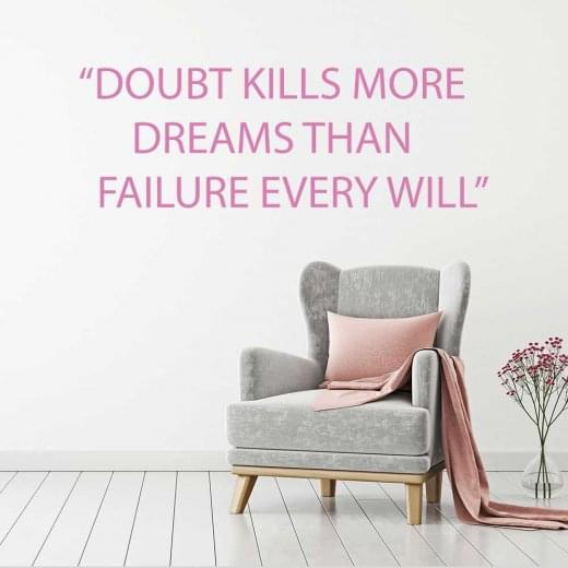 Wall Chimp Doubt kills more dreams wall sticker
