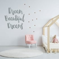 Dream Beautiful Dreams Wall Sticker