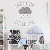 Dream Big Little One Printed Wall Sticker
