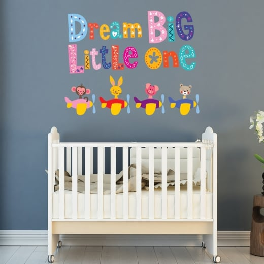 Wall Chimp Dream Big Little One Printed Wall Sticker