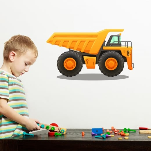 Wall Chimp Dumper Truck Printed Wall Sticker