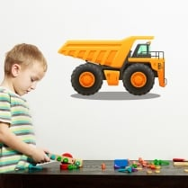 Dumper Truck Printed Wall Sticker