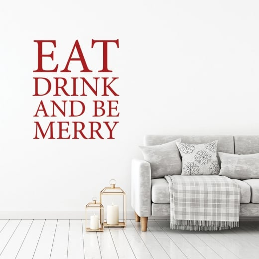 Wall Chimp Eat, Drink And Be Merry Wall Sticker