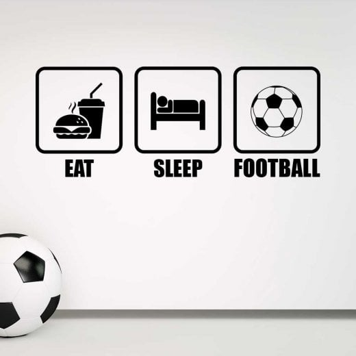 Wall Chimp Eat, Sleep, Football Wall Sticker