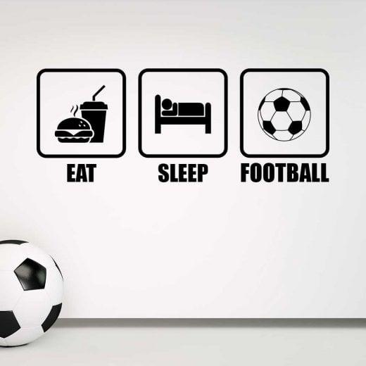 Wall Chimp Eat, Sleep, Football Wall Sticker