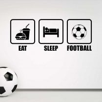 Eat, Sleep, Football Wall Sticker