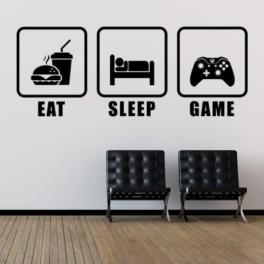 Wall Chimp Eat, Sleep, Game Wall Sticker