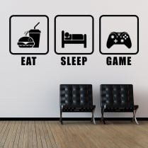 Eat, Sleep, Game Wall Sticker