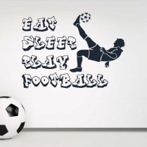 Eat, Sleep, Play Football Wall Sticker