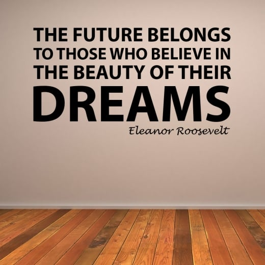 Wall Chimp Eleanor Roosevelt Dreams Motivational Quote Wall Sticker