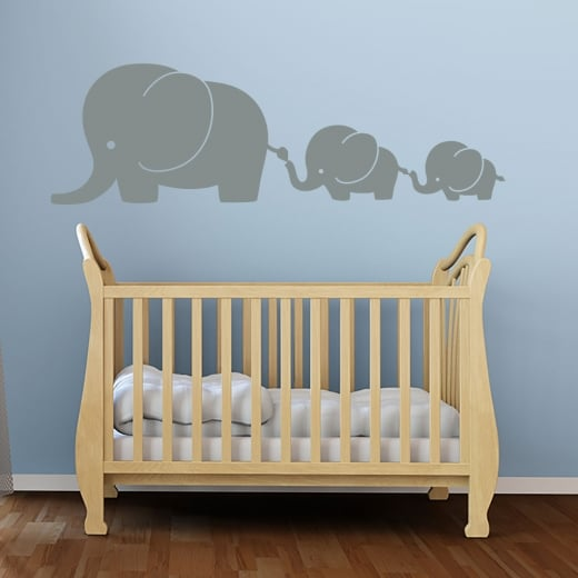 Wall Chimp Elephant Family Wall Sticker