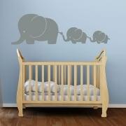 Elephant Family Wall Sticker