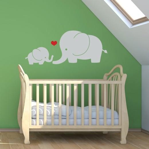 Wall Chimp Elephant Love Wall Sticker