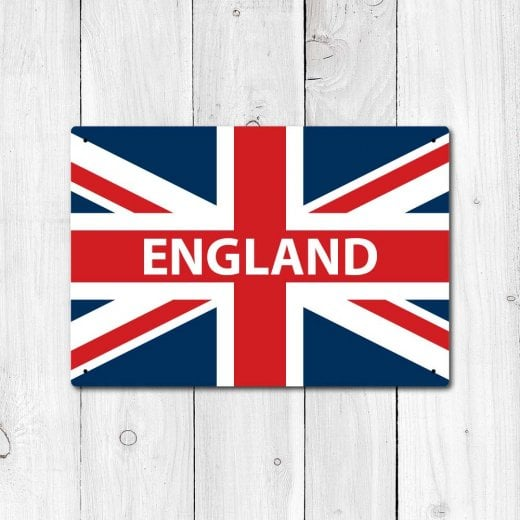 Wall Chimp England Great Britain Flag Sign