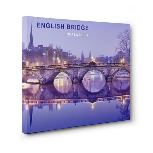 Wall Chimp English Bridge - Shrewsbury Canvas Print