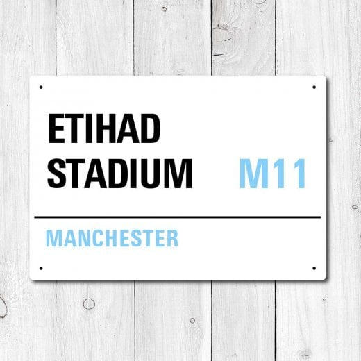 Wall Chimp Etihad Stadium, Manchester Metal Sign