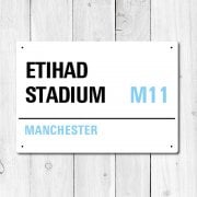 Etihad Stadium, Manchester Metal Sign