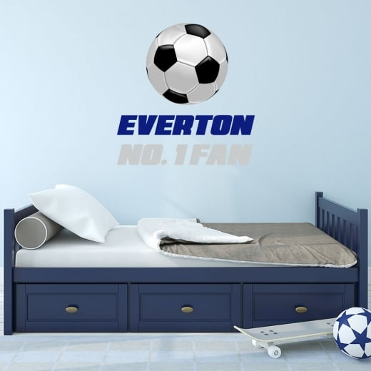 Wall Chimp Everton No. 1 Fan Football Printed Wall Sticker