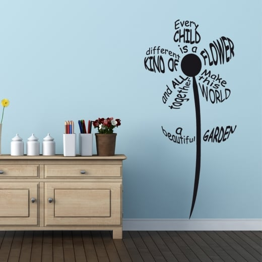 Wall Chimp Every Child Is A Flower Wall Sticker Quote