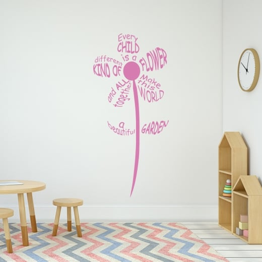 Every Child Is A Flower Wall Sticker Quote Wall Chimp Uk
