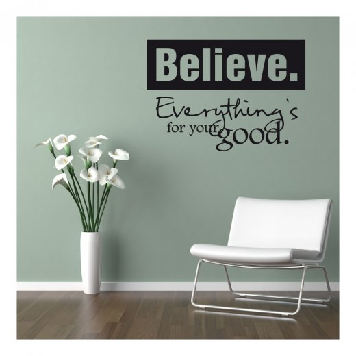 Wall Chimp Everything Is For Your Good Wall Sticker Quote