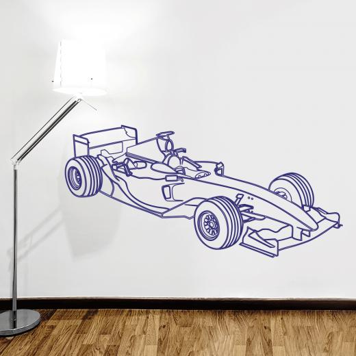 Wall Chimp F1 Grand Prix Car Wall Sticker