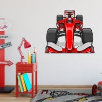 F1 Racing Car Printed Wall Sticker
