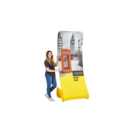 Wall Chimp Fabric Banner Stand