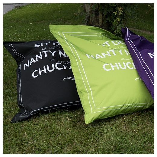 Wall Chimp Fabric Beanbags