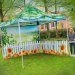 Wall Chimp Fabric Gazebo