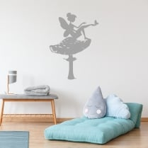 Fairy on Toadstool Wall Sticker