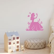 Fairy Sitting Wall Sticker