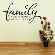 Family Future Wall Sticker Quote
