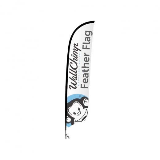 Wall Chimp Feather Flags