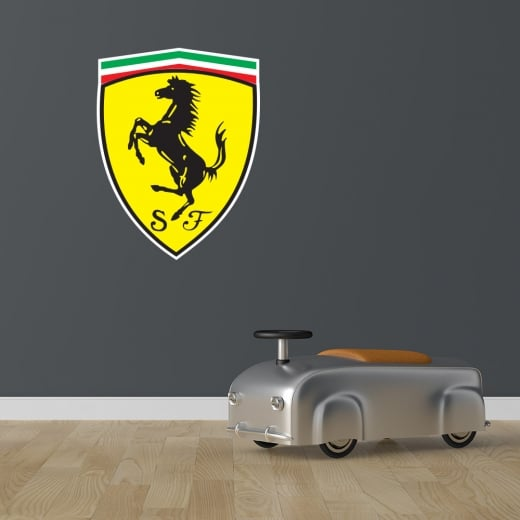 Wall Chimp Ferrari Badge Printed Wall Sticker