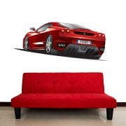 Ferrari Red Sports Car Wall Sticker