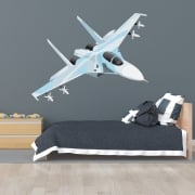 Fighter Jet Printed Wall Sticker