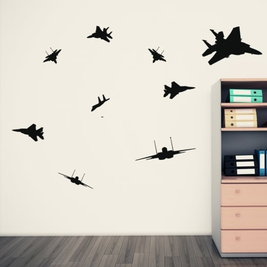Wall Chimp Fighter Jet Wall Sticker Pack