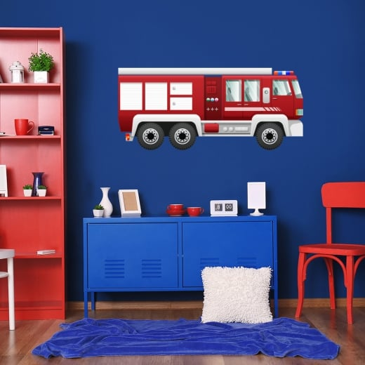 Wall Chimp Fire Engine Printed Wall Sticker