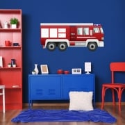 Fire Engine Printed Wall Sticker