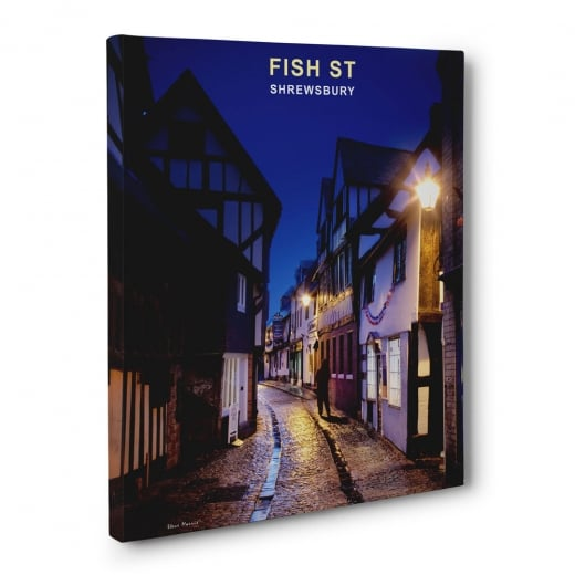 Wall Chimp Fish Street - Shrewsbury Canvas Print