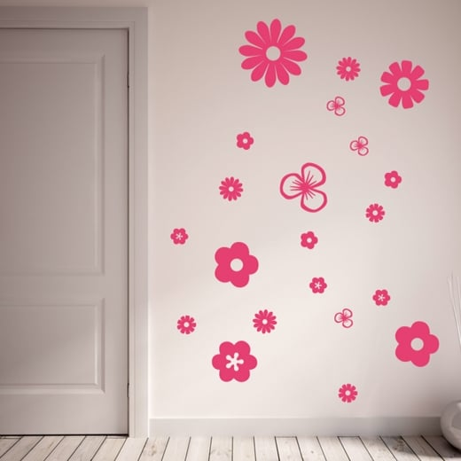 Wall Chimp Flower Wall Sticker Pack