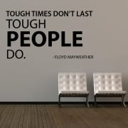 Floyd Mayweather Motivational Quotation Wall Sticker