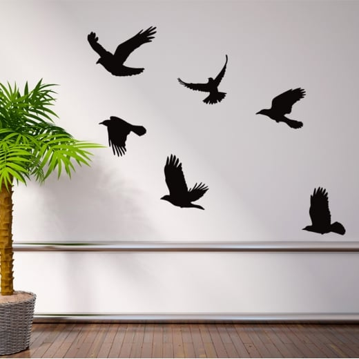 Wall Chimp Flying Birds Wall Sticker Pack