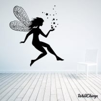 Flying Fairy With Stars Wall Sticker