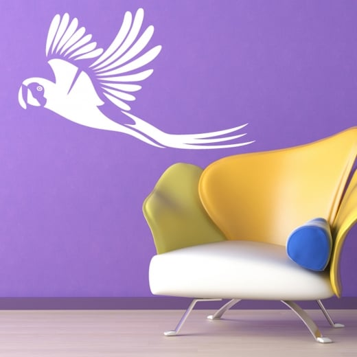 Wall Chimp Flying Parrot Wall Sticker