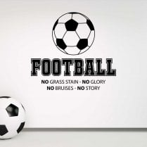 Football No Glory No Story Wall Sticker