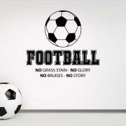 Football No Glory No Story Wall Sticker