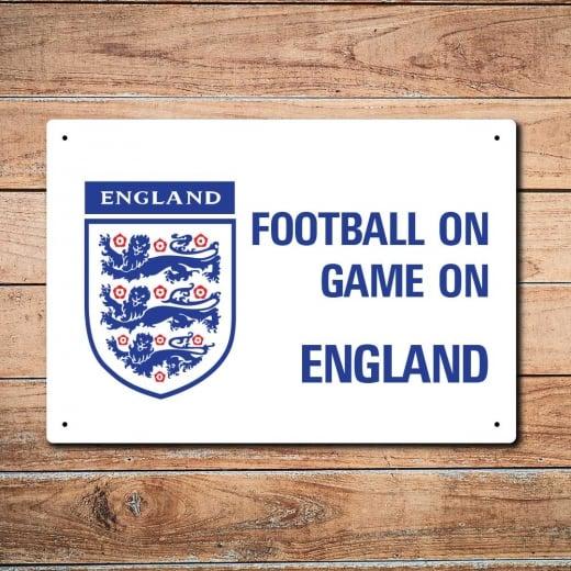 Wall Chimp Football On Game On England Football Metal Sign