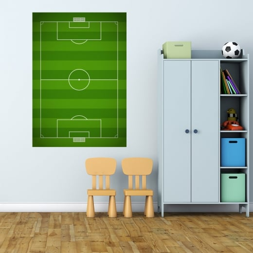 Wall Chimp Football Pitch Printed Wall Sticker